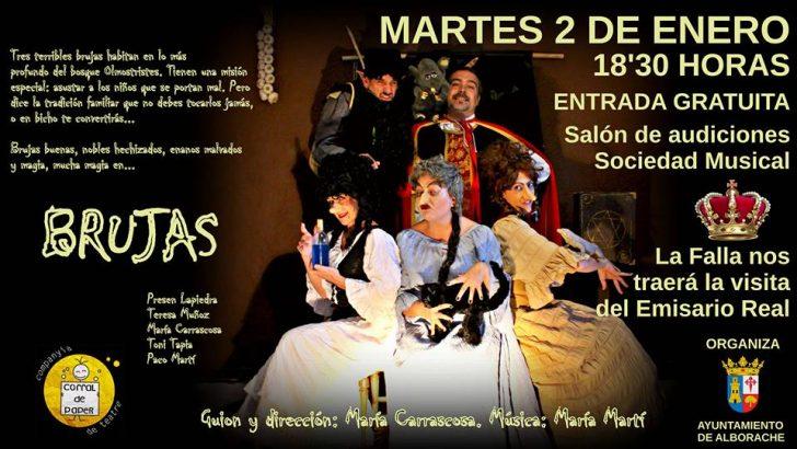 """La obra de Teatro """"Brujas"""" llega a Alborache el próximo martes"""