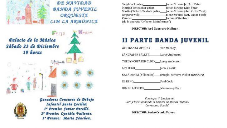 """La Banda Juvenil y la Orquesta de """"La Armónica"""" ofrecerán este sábado su concierto de Navidad"""