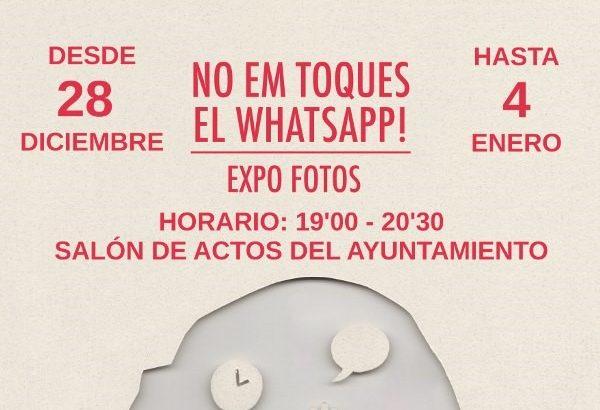 """La exposición fotográfica """"No me toques el Whatsapp"""" llega a Alborache"""
