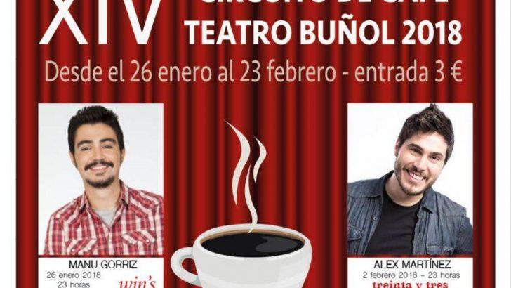 El XIV Circuito Café Teatro de Buñol contará con cómicos de Paramount Comedy