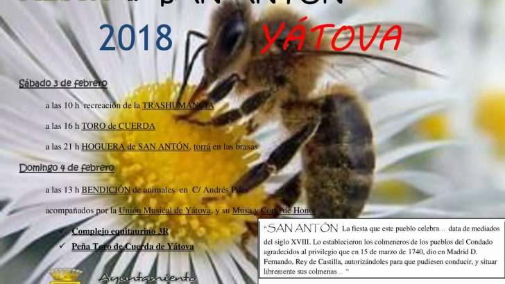 Yátova celebra este fin de semana su tradicional fiesta de San Antón