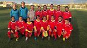 La buñolense Olivia Escobar y la yatovense Jana Villar disputan un encuentro con la Selección Valenciana sub-12