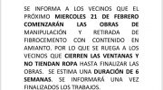 El Ayuntamiento de Buñol informa a los vecinos de la retirada de amianto en la antigua papelera del Barrio San Rafael