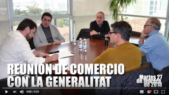 Reunion equipo de comercio de Buñol con Natxo Costa (vídeo)