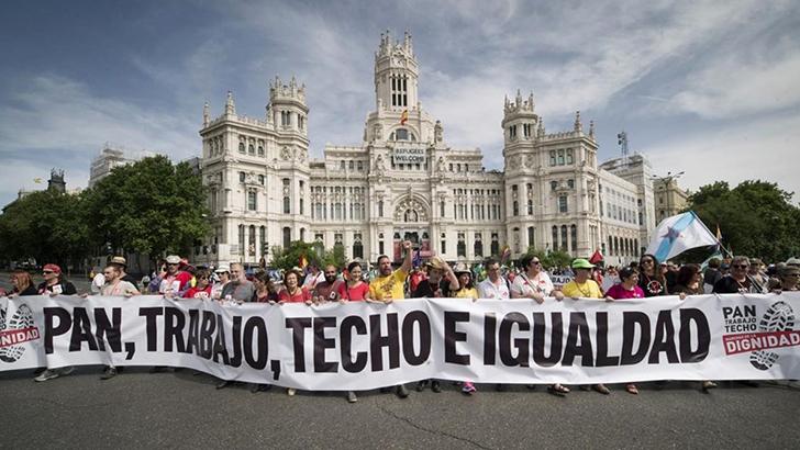 Marchas de la dignidad contra el paro y la precariedad