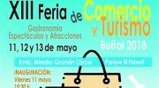La XIII Feria de Comercio y Turismo de Buñol presenta su cartel
