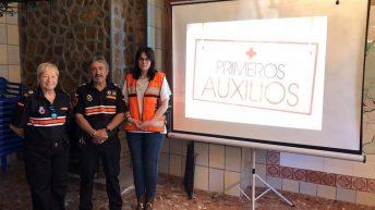 Protección Civil de Buñol colabora en una jornada de primeros auxilios junto a Campus Diversia