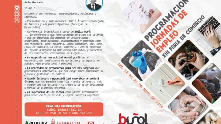 El Ayuntamiento de Buñol organiza unas Jornadas de Empleo para jóvenes, desempleados, autónomos y emprendedores
