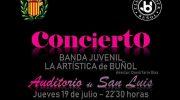 La Banda Juvenil de la Artística y el Club de Rock de Buñol esta noche en la Bienal
