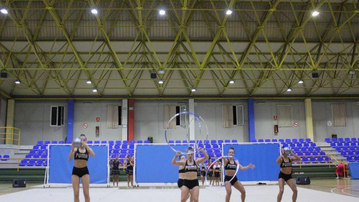 Las imágenes de la exhibición de Gimnasia Rítmica en la Semana Deportiva de Buñol