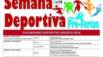 Buñol organiza una semana deportiva previa a la Feria y Fiestas