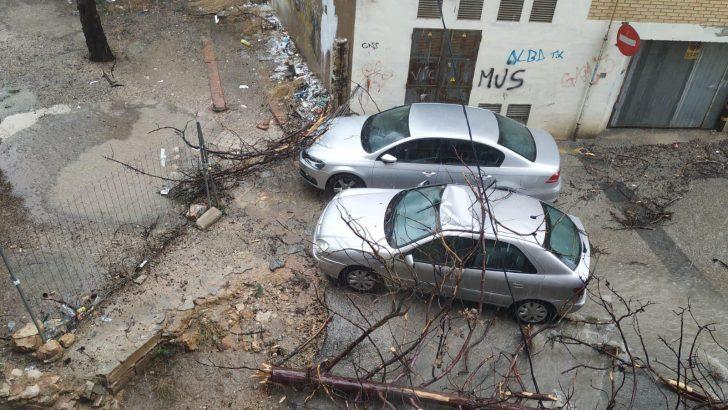 Las imágenes de la tromba de agua que dejó 40 litros en Chiva en una hora