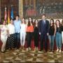 Macastre participa en la recepción de Ximo Puig a los alumnos que visitaron en mayo Mathausen